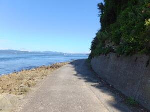 田尻の浜から室にかけての海岸線